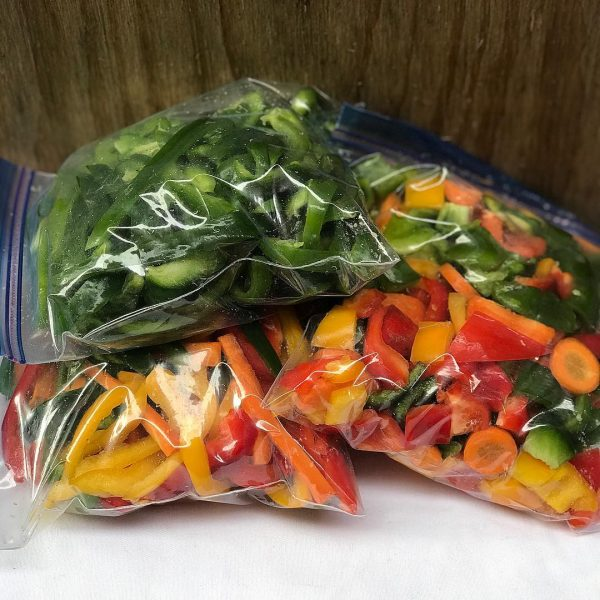 stir fry mix, peppers, veggies